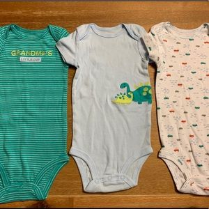 3 piece Carters boy body suits